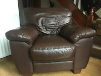 Brown Leather Chair - Free for collection