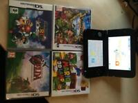 NINTENDO 3DS WITH 4 CLASSIC GAMES