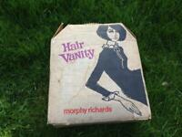 VINTAGE RETRO KITSCH MORPHY RICHARDS HAIR VANITY HAIR DRYER & NAIL DRYER