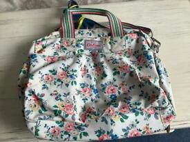 Cath Kidston baby bag waxed cotton material