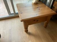 Solid pine table with a draw.
