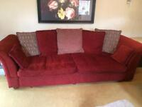 Sofas for sale 4 seater £50 & 3 seater £45