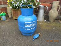 calor 4.5kg butane gas bottle ( full ) & regulator