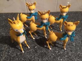 Babycham deer figures 1960s