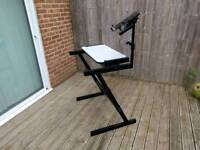 Quiklok Z-frame keyboard/synth stand and laptop mount