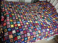 Hand Knitted Patchwork Bedspreads x 3
