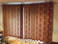 Full length curtains.