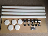 Axxys Wall Handrail Kit - White Primed with Chrome Connectors