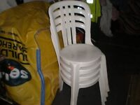 Nice 4 chairs, Ideal extra chairs in home, or garden, vgc