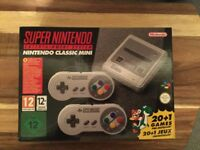 Brand new Supernintendo classic mini sealed