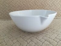 Large Baking Bowl with Spout (Pillivuyt French Quality White Porcelain)