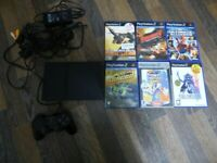 Sony PlayStation 2 PS2 BLACK CONSOLE Slim SCPH-70003 6 GAMES BUNDLE JOBLOT GTA