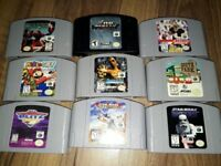 Bundle of 9 N64 games NTSC