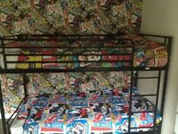 Black Metal bunk beds £70 Can be delivered for a small fee depending on area