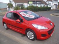 Stunning Peugeot 207 S HDI,5 door hatchback,1 previous owner,FSH,£30 road tax,only 52,000 miles
