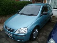 VAUXHALL CORSA 900cc, 2005 REG WITH A FULL MOT, LOW MILEAGE, VERY ECONOMICAL & CHEAP INSURANCE