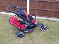 Phil & Teds Inline Double Buggy / Pushchair / Stroller / Pram