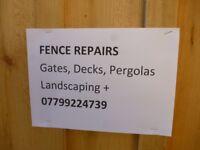 Fence Repairs,Landscaping, General Maintenance