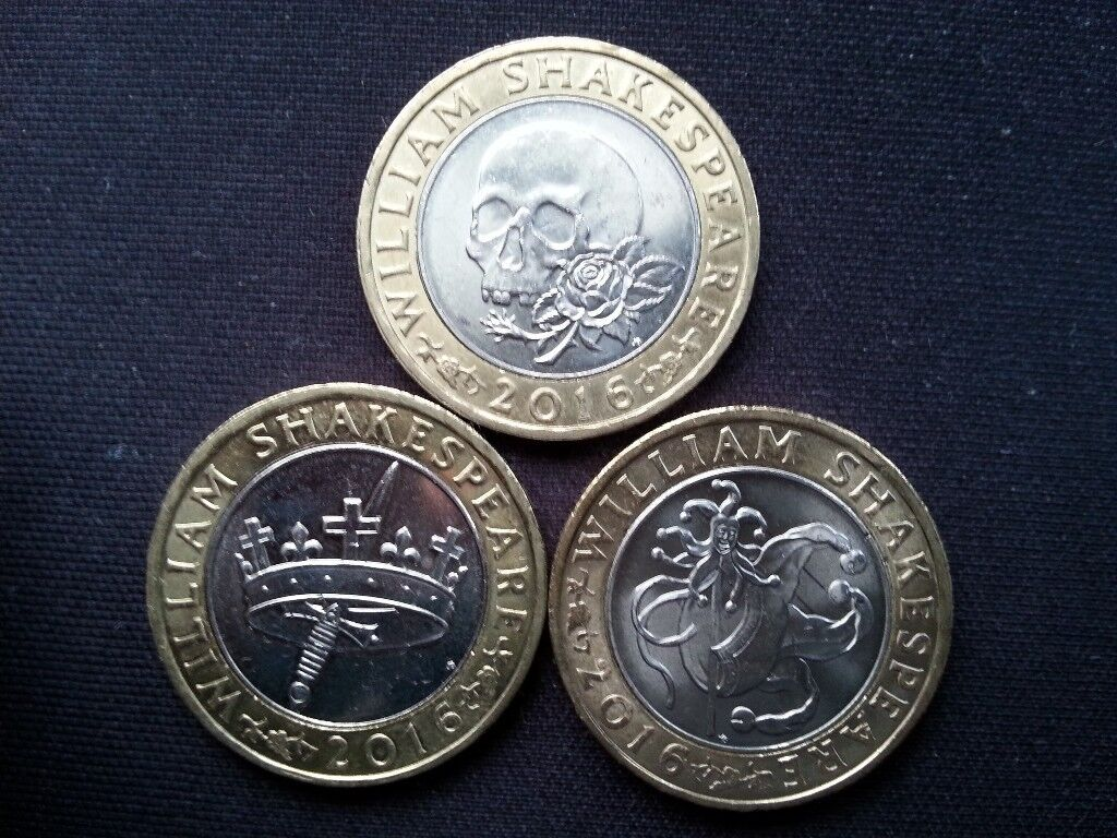 Complete William Shakespeare £2 coin Set x 1