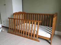 Wooden Cot bed - baby to toddler