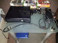 Xbox 360 slim 120gb perfect condition, 17 games