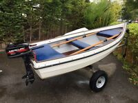 Orkney A11 GRP boat with 5hp Mercury 2-Stroke outboard For Sale