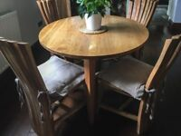 Dining Table + 4 Chairs | Solid Wood | Handmade