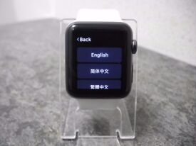 Black Apple Watch With White Strap 1st Generation
