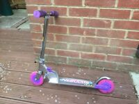 Kids scooter for sale, pink colour, suitable for 5 years and over