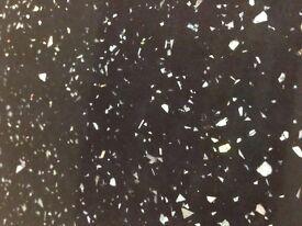 BLACK Sparkle Gloss Laminate Kitchen Worktop - Brand New 12 foot long