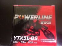 POWERLINE BIKE YTX5L-BS MOTORCYCLE BATTERY NEW