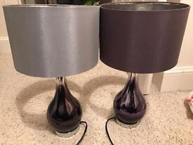 Two next ombré glass lamps
