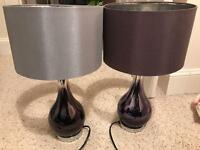 Two next ombré glass lamps