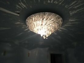 Elegant chandelier crystal light