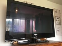 42inch black Samsung plasma TV built in free view