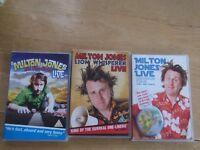 Set of 3 Milton Jones DVD's