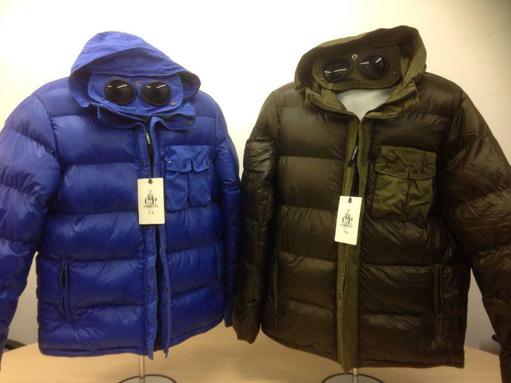 Goggle Puffer Jacket Cp Company In Leicester