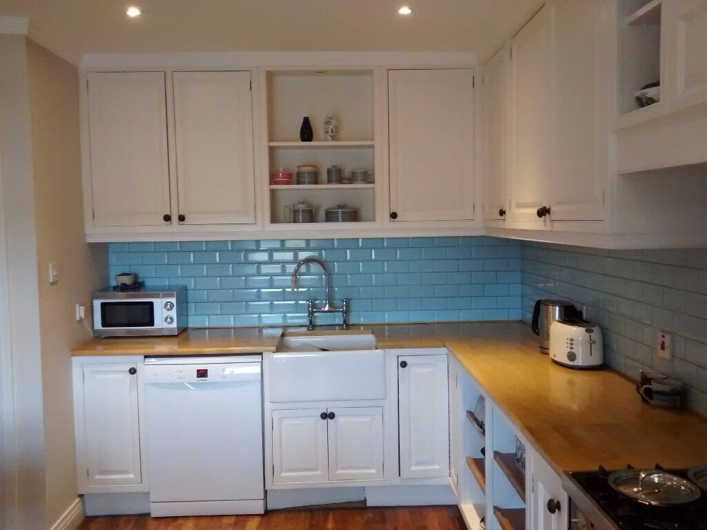 Second hand kitchen units - solid wood doors and worktop | in ...