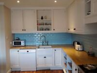Second hand kitchen units - solid wood doors and worktop