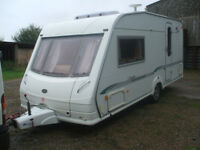 touring caravan bessacare 18ft two berth 2004 .motor moover /full awning.NO DAMP