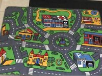 Child's Car Track Rug