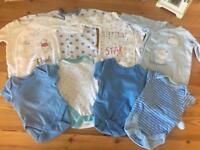 Newborn baby grows & vests