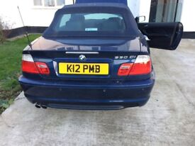 Bmw 330 msport convertible , low mileage 2004 plate
