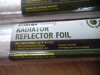 energy saving radiator reflector foil, 5m x 50cm, new, enough for 3 standard radiators, £5