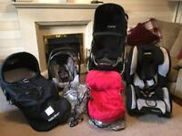 Icandy Apple Pram and Recaro Car seats from Birth to 4 years