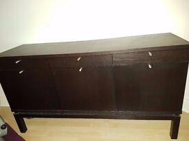 Black/Brown Sideboard