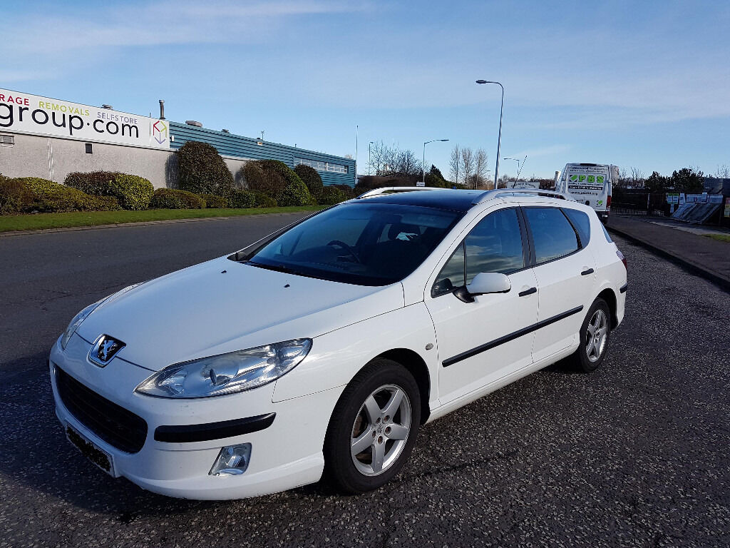 peugeot 407 sw 1 6 hdi diesel estate white in glenrothes fife gumtree. Black Bedroom Furniture Sets. Home Design Ideas