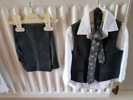 Monsoon boys grey trouser suit age 5 years