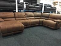 Ex Display LazyBoy Large Recliner Corner Sofa + Recliner Chaise