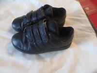 ADIDAS VELCRO TRAINERS BLACK SIZE UK 12